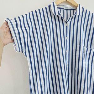 Closed Tops - CLOSED Striped Shirt Dress - L